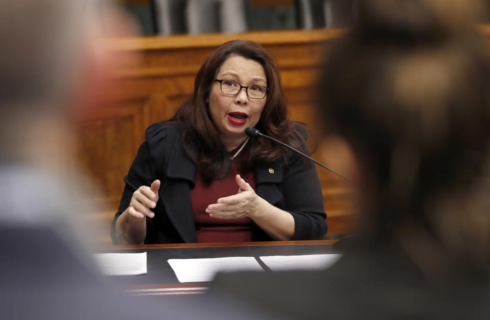 Sen. Tammy Duckworth, D-Ill., will be the first senator to give birth while in office. (Alex Brandon/AP)