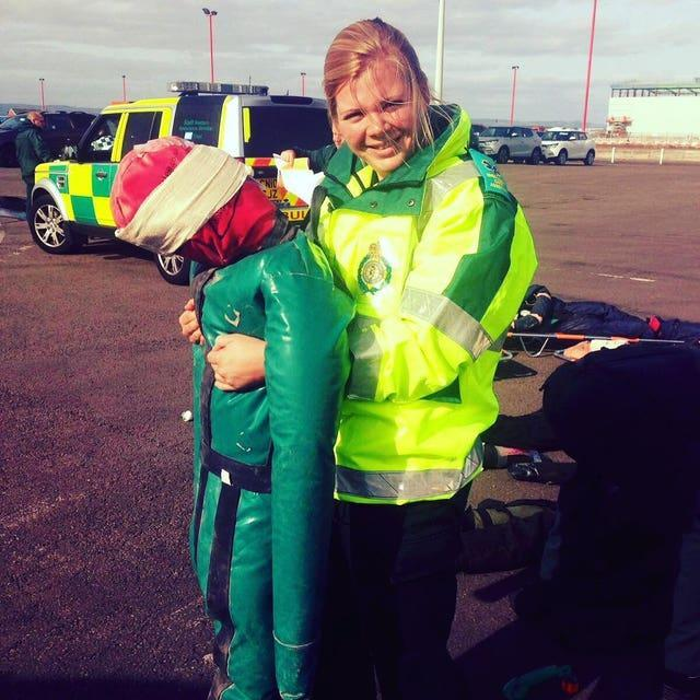 Lauren Biffen, a student paramedic with the South West Ambulance Service