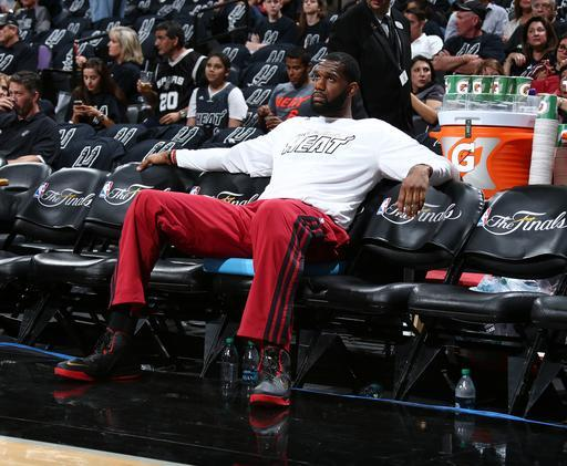 SAN ANTONIO, TX - JUNE 5: Greg Oden #20 of the Miami Heat in Game One of the 2014 NBA Finals at AT&T Center on June 5, 2014 in San Antonio, Texas. (Photo by Nathaniel S. Butler/NBAE via Getty Images)