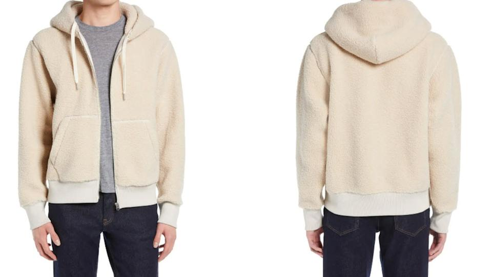 Rag & Bone Damon High Pile Fleece Hoodie - Nordstrom, $237 (originally $395)