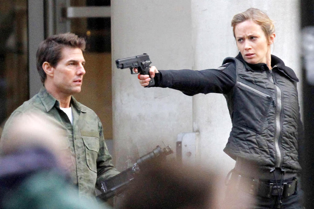 North America Rights Only - London, England 02/02/13- Tom Cruise and Emily Blunt Filming `All You Need Is Kill` in London
