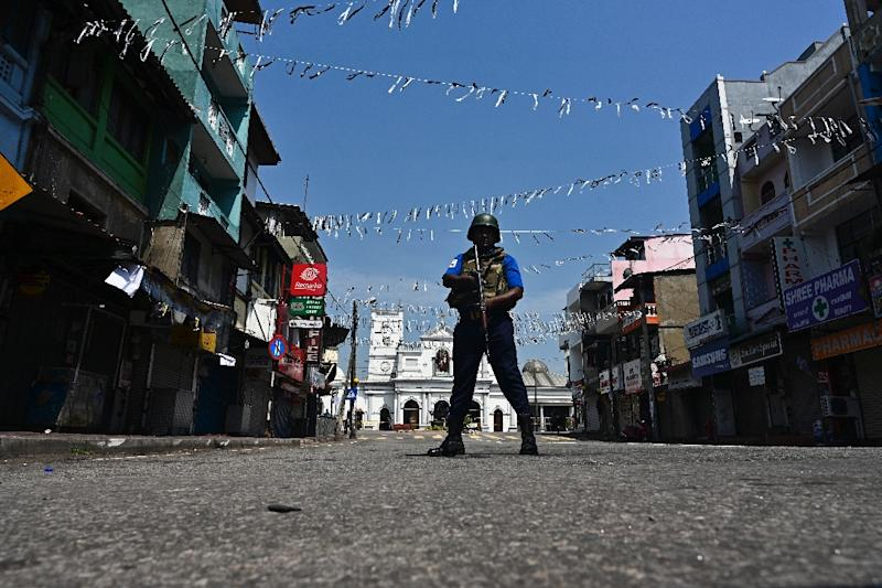 Sri Lanka has deployed thousands of troops as it hunts for suspects in the Easter attacks (AFP Photo/Jewel SAMAD)