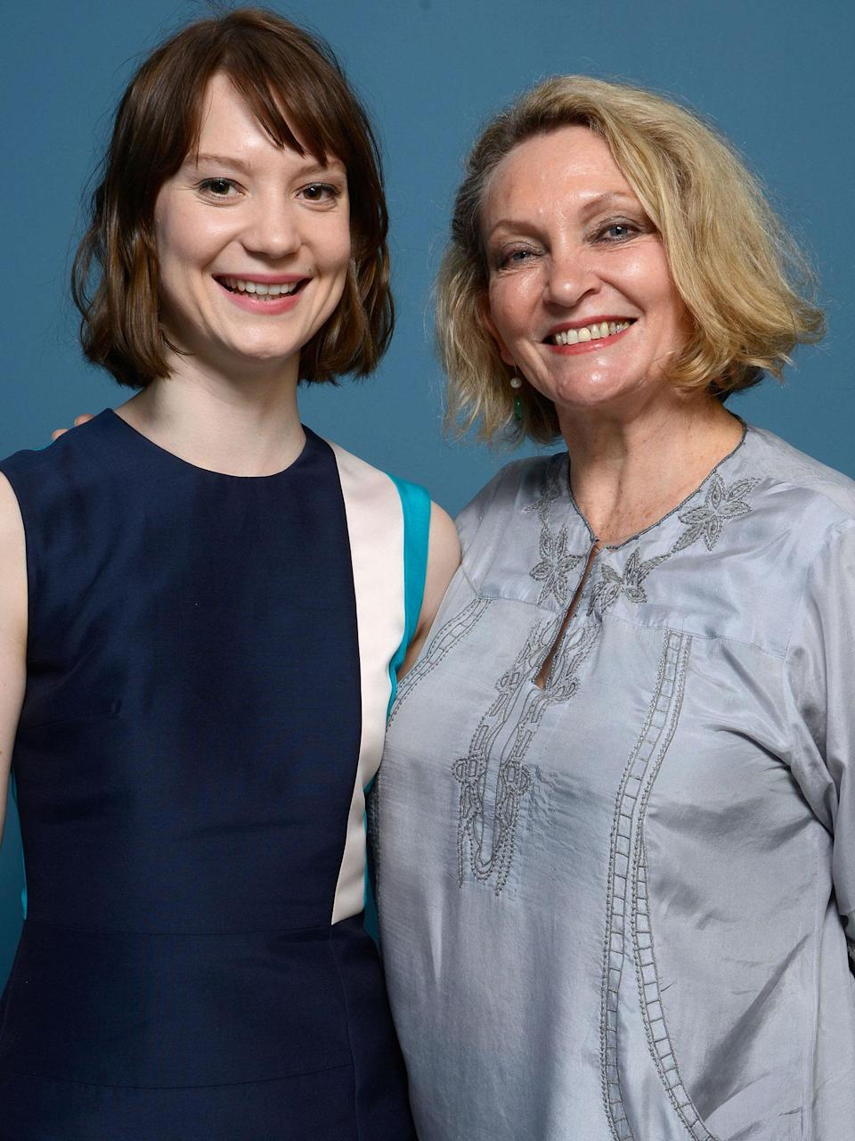 Mia Wasikowska and the real Robyn Davidson (Larry Busacca/Getty Images)