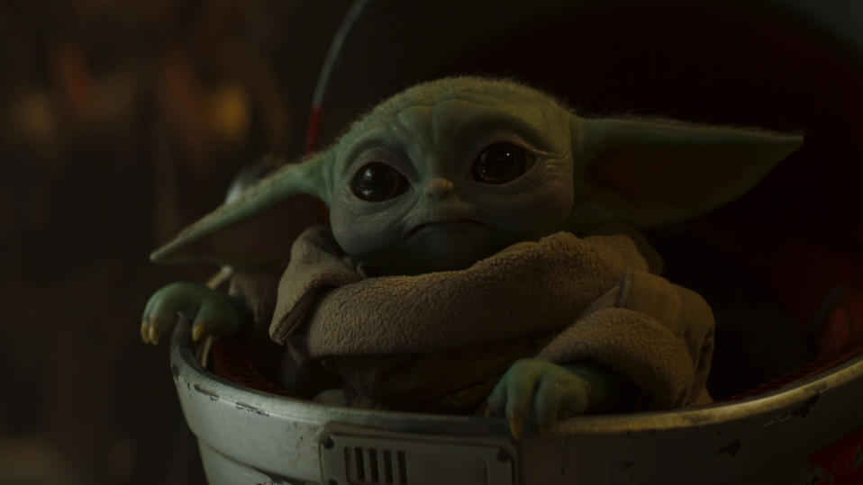 Baby Yoda will return in season two of 'The Mandalorian'. (Credit: Disney+)