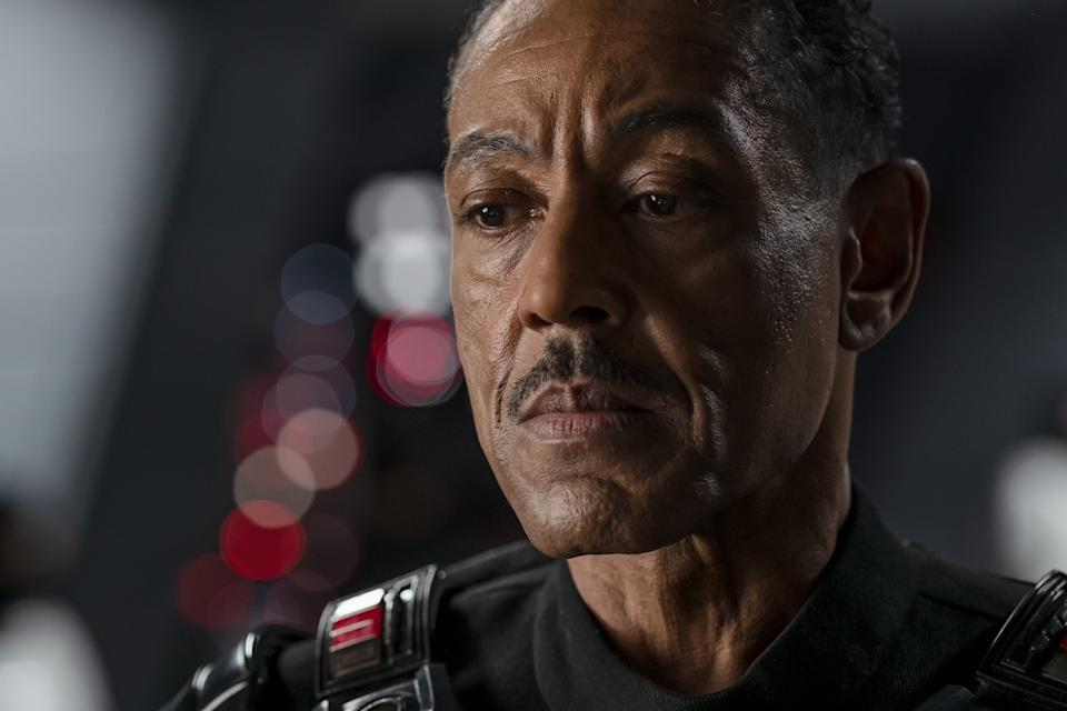 Giancarlo Esposito as Moff Gideon in a still from The Mandalorian S2. (Disney+)