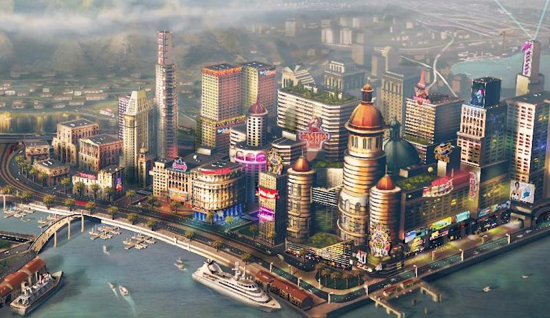 "FILE - In this file image provided by Electronic Arts/Maxis, concept art for a waterfront city is shown for the video game ""SimCity."" The creators of ""SimCity"" are hoping players don't move on after connectivity issues plagued the game's launch last week. The updated edition of the 24-year-old metropolis-building franchise released last Tuesday, March 5, 2013, requires players to be online _ even if they're constructing virtual cities in the single-player mode. Several gamers weren't able to log on after ""SimCity"" launched, prompting some retailers to stop selling the Electronic Arts Inc. game. (AP Photo/Electronic Arts/Maxis, File)"