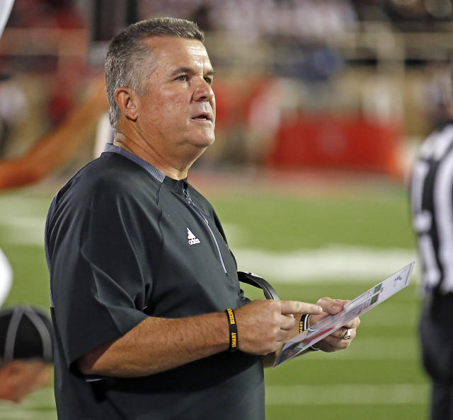Arizona State coach Todd Graham watches his team during an NCAA college football game against Texas Tech, Saturday, Sept. 16, 2017, in Lubbock, Texas. (Brad Tollefson/Lubbock Avalanche-Journal via AP)