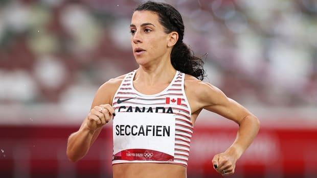 Canadian Olympic runner Andrea Seccafien is stranded overseas and unable to return home to Australia, where the borders are closed and the country is in its sixth lockdown of the COVID-19 pandemic. As a non-permanent resident, her application for a border permit has yet to be approved. (Cameron Spencer/Getty Images - image credit)