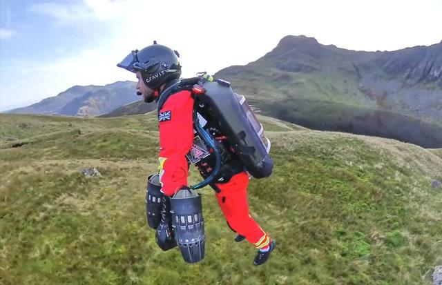 The jet suit is a collaboration between Gravity Industries and the Great North Air Ambulance Service
