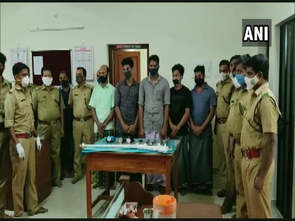 Police arrest six accused for allegedly killing a pregnant wild buffalo. (Photo/ANI)