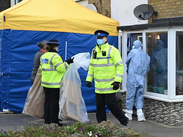 Police search a house on Freemen's Way in Deal, KentGetty Images