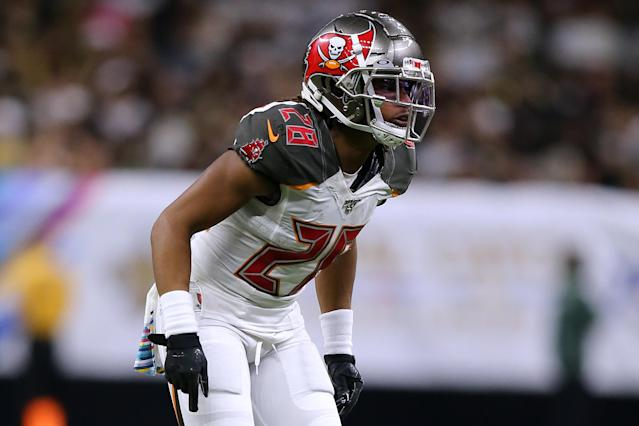 The Tampa Bay Buccaneers released CB Vernon Hargreaves on Tuesday. (Jonathan Bachman/Getty Images)