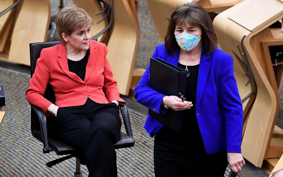 Nicola Sturgeon is to investigate whether Jeane Freeman broke the ministerial code - Getty Images Europe