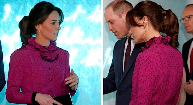 The Duchess of Cambridge wore Accessorize earrings on her royal tour in Ireland. (Getty images)