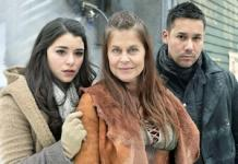 Nicole Munoz, Linda Hamilton and Justin Rain | Photo Credits: Ben Mark Holzberg/Syfy