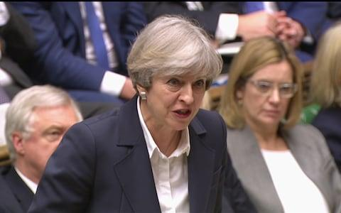 Mrs May addresses the Commons on the day Article 50 was triggered.  - Credit: AP