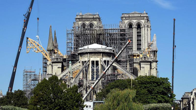 Strict safety measures in place as clean-up work resumes at Notre-Dame