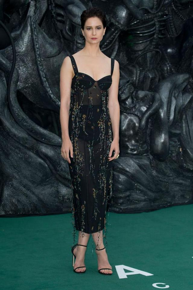 Katherine Waterston in Ulyana Sergeenko. (Photo: Getty Images)