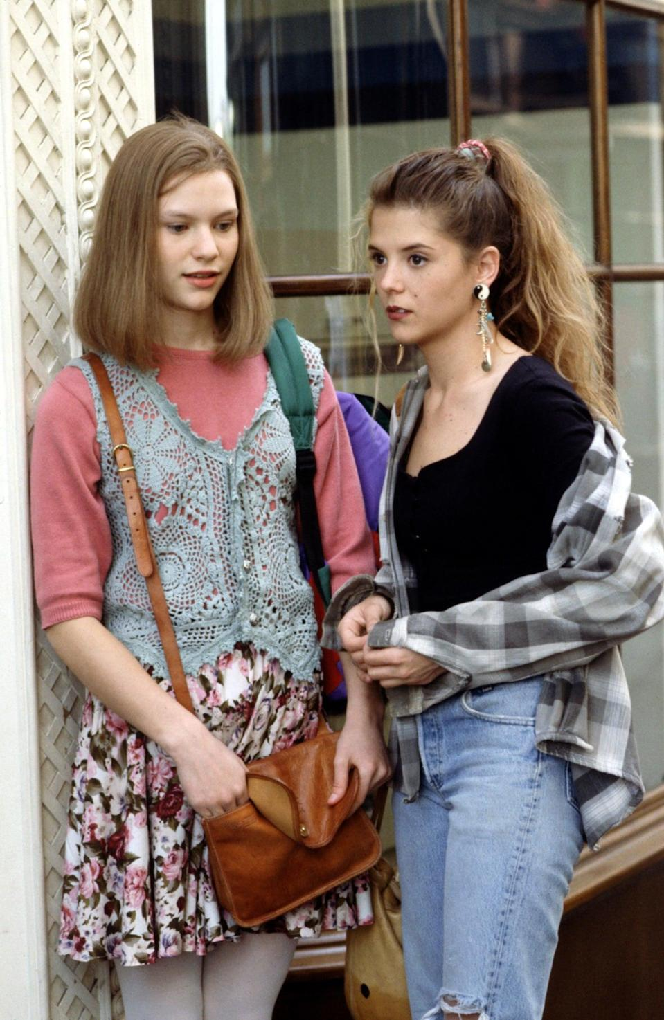 """<p>If you're going to be angsty teen Angela Chase from <b>My So-Called Life</b>, then you'll need lots of layers in pastels, florals, plaid, and crochet plus oversize striped sweaters. Bonus points if you <a href=""""https://www.popsugar.com/love/My-So-Called-Life-Quotes-22638410"""" class=""""link rapid-noclick-resp"""" rel=""""nofollow noopener"""" target=""""_blank"""" data-ylk=""""slk:memorize some of her best quotes"""">memorize some of her best quotes</a>.</p>"""