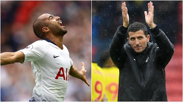 The first monthly awards of the Premier League season have been announced, with Lucas Moura and Javi Gracia collecting the individual gongs.