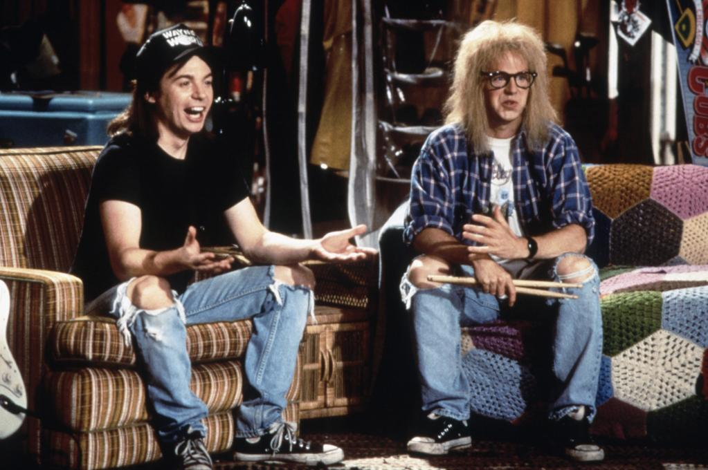 "1992  ""Wayne's World,"" based on a ""Saturday Night Live"" sketch, was released on this day. The comedy classic, which stars Mike Myers and Dana Carvey, is by far the highest-grossing film of the 'SNL' franchise."