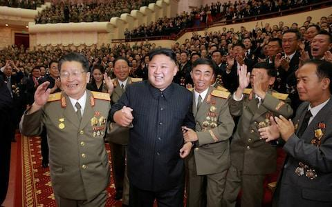 <span>North Korea leader Kim Jong-un celebrating the country's successful hydrogen bomb test earlier this month </span> <span>Credit: Reuters </span>
