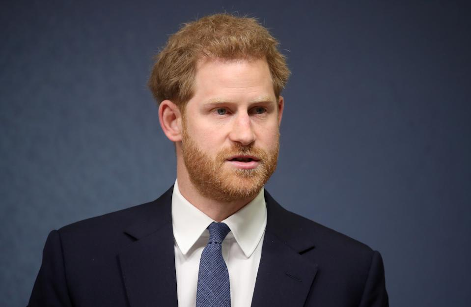 LONDON COLNEY, ENGLAND - JUNE 17:  Prince Harry, Duke of Sussex makes a speech as he attends the Chatham House Africa Programme event on