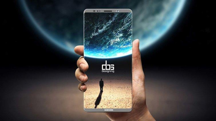 The Galaxy Note 8 may put its fingerprint reader on the back. Credit: Mushin Auckburaully/DBS Designing