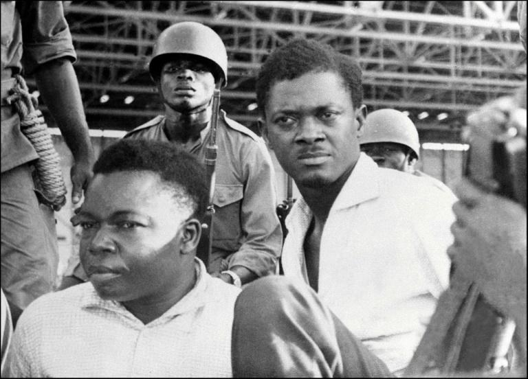 Patrice Lumumba (right) and Joseph Okito (L), vice-president of the Senate, pictured together in November 1960, were executed together in 1961 (AFP Photo/-)