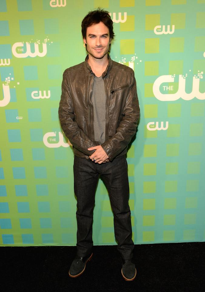"Ian Somerhalder (""The Vampire Diaries"") attends The CW's 2012 Upfronts on May 17, 2012 in New York City."