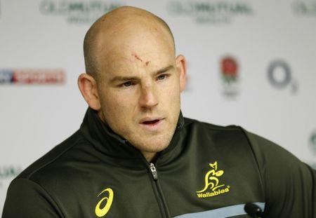 Britain Rugby Union - Australia Press Conference - Twickenham Stadium - 2/12/16 Australia's Stephen Moore during the press conference Action Images via Reuters / Andrew Boyers Livepic
