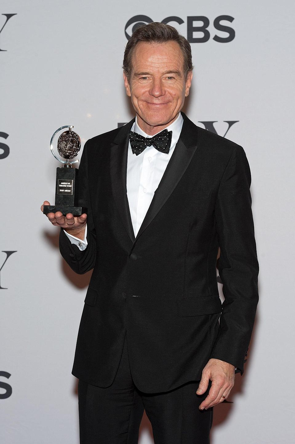 <ul> <li><strong>Has:</strong> Three Emmys for <strong>Breaking Bad</strong> and a Tony for <strong>All the Way</strong></li> <li><strong>Needs:</strong> A Grammy and an Oscar</li> </ul>