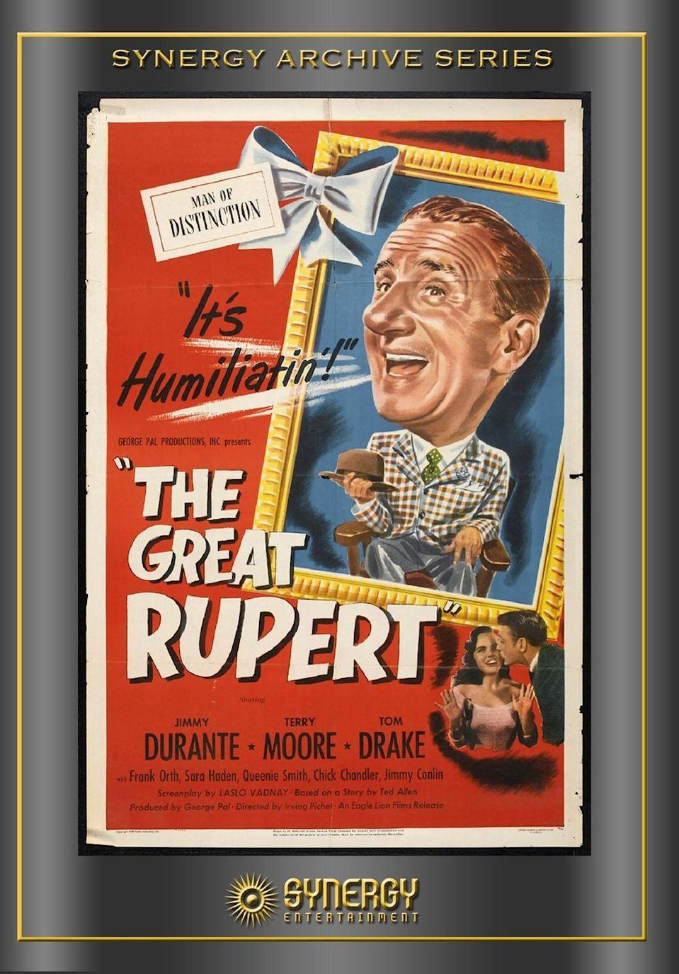 """<p>This classic, released in 1950, brings together two struggling families and a friendly squirrel named Rupert. Let's just say the holiday gets <em>rather</em> interesting ...</p><p><a class=""""link rapid-noclick-resp"""" href=""""https://www.amazon.com/Great-Rupert-Jimmy-Durante/dp/B006QSSL3S/?tag=syn-yahoo-20&ascsubtag=%5Bartid%7C10055.g.1315%5Bsrc%7Cyahoo-us"""" rel=""""nofollow noopener"""" target=""""_blank"""" data-ylk=""""slk:WATCH NOW"""">WATCH NOW</a></p>"""
