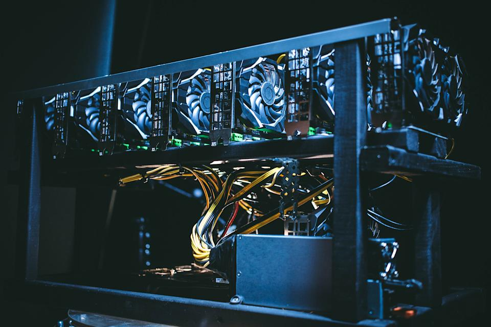 A bitcoin mining farm. Photo: Getty Images