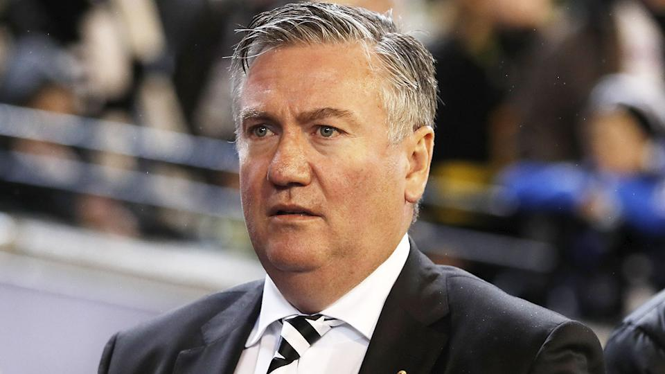 Seen here, Collingwood president Eddie McGuire watches on at an AFL game.