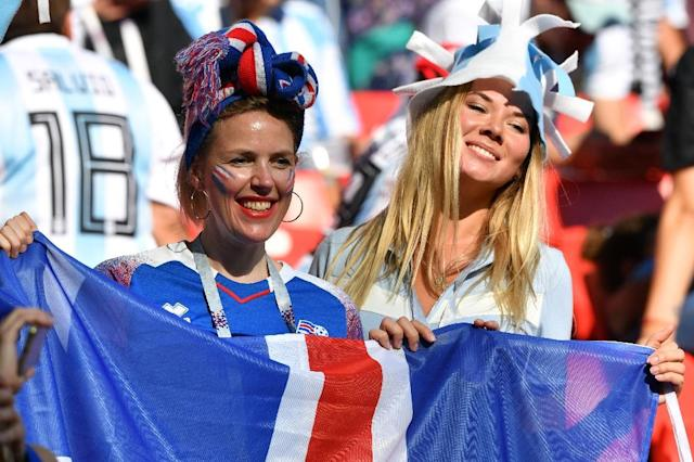 Iceland fans saw their side draw 1-1 with Argentina at the World Cup in Russia (AFP Photo/Mladen ANTONOV)