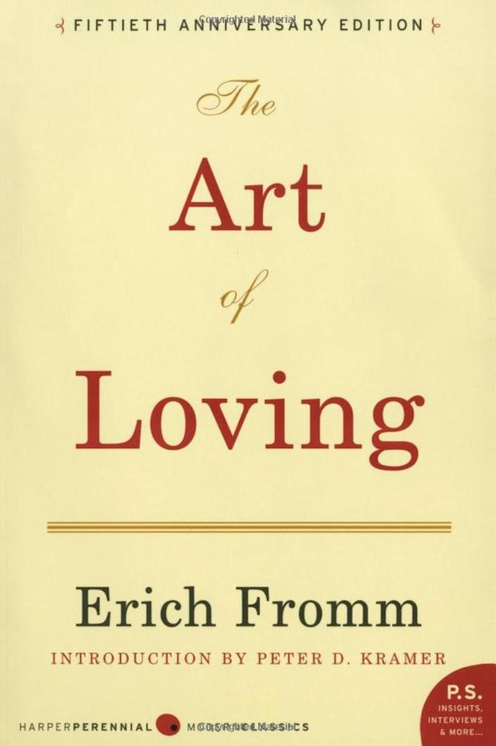 """""""This is a timeless book that continues to resonate with couples. It's one of those books you take off the shelf every decade or so to be reminded about the true nature of love: that it is an art that requires knowledge and effort. It is about increasing one's capacity to love, and understanding the confusion between falling in love and the permanent state of being in love. Loving is not simple. It is an art like any other that needs to be practiced on a regular basis, with concentration and patience. This small book will inspire couples to look at their relationships from a new perspective."""" -- <i><a href=""""http://ashortguidetoahappymarriage.com/Home.html"""" rel=""""nofollow noopener"""" target=""""_blank"""" data-ylk=""""slk:Sharon Gilchrest O&rsquo;Neill"""" class=""""link rapid-noclick-resp"""">Sharon Gilchrest O&rsquo;Neill</a>,&nbsp;a marriage and family therapist and the author of&nbsp;""""A Short Guide to a Happy Marriage: The Essentials for Long-Lasting Togetherness</i><br><br><br><strong><i>Get&nbsp;</i><i><a href=""""https://www.amazon.com/Art-Loving-Erich-Fromm/dp/0061129739/ref=sr_1_1?keywords=&quot;The+Art+of+Loving&quot;+by+Erich+Fromm&amp;qid=1566432542&amp;s=books&amp;sr=1-1"""" rel=""""nofollow noopener"""" target=""""_blank"""" data-ylk=""""slk:&quot;The Art of Loving&quot; by Erich Fromm"""" class=""""link rapid-noclick-resp""""><i>""""</i>The Art of Loving"""" by Erich Fromm </a></i></strong>"""