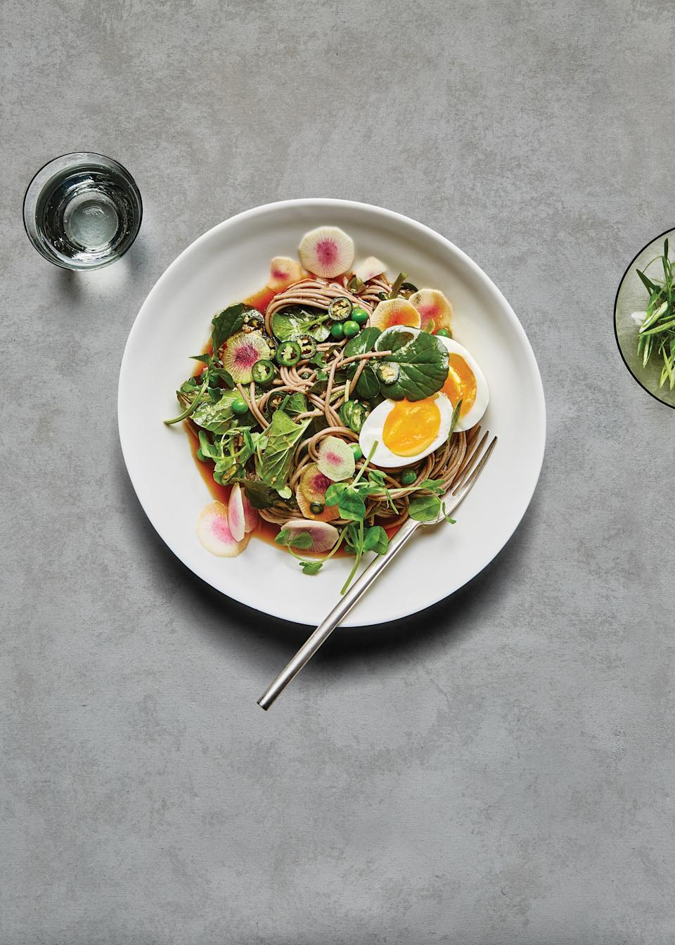 """<a href=""""https://www.bonappetit.com/recipe/cold-soba-noodles-with-jammy-eggs-and-peas?mbid=synd_yahoo_rss"""" rel=""""nofollow noopener"""" target=""""_blank"""" data-ylk=""""slk:See recipe."""" class=""""link rapid-noclick-resp"""">See recipe.</a>"""