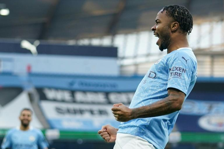 Raheem Sterling scored for the first time in seven games as Manchester City beat Fulham