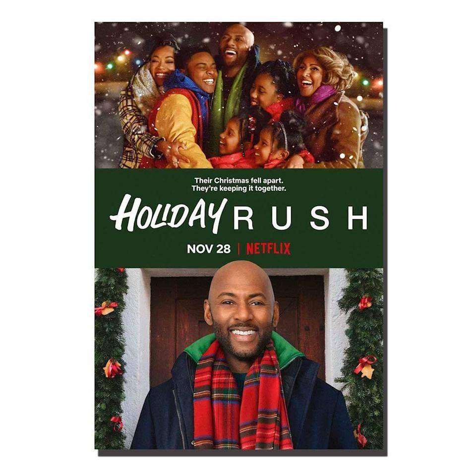 """<p>Popular radio DJ Rush Williams and his four kids, who are used to living a lavish lifestyle, get a heavy dose of reality when Rush loses his job right before the holidays.</p><p>But when the radio station where Rush had his first job conveniently comes up for sale, not all the family's holiday cheer is lost. With some help from his producer and his aunt (Marlene Love), plus a healthy dose of the simpler life with his family, Rush just might be able to put his plans for Christmas back on the air.</p><p><a class=""""link rapid-noclick-resp"""" href=""""https://www.netflix.com/title/81033086"""" rel=""""nofollow noopener"""" target=""""_blank"""" data-ylk=""""slk:Watch Now"""">Watch Now</a></p>"""