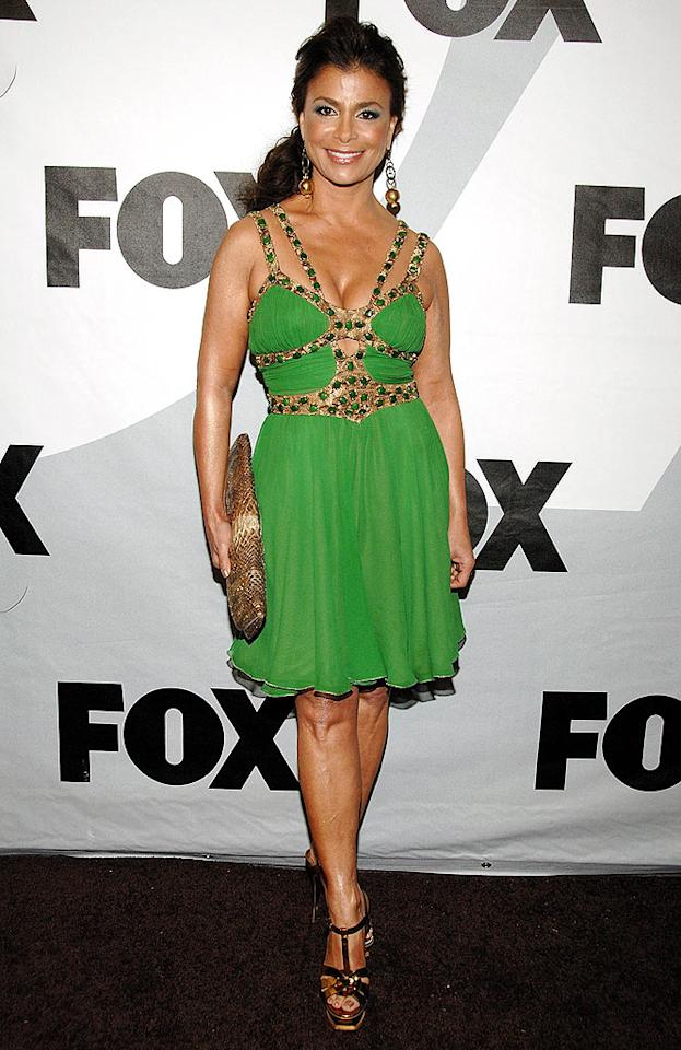"""On the other hand, Paula Abdul's garish gladiator getup left us green with disgust. Jean-Paul Aussenard/<a href=""""http://www.wireimage.com"""" target=""""new"""">WireImage.com</a> - January 13, 2009"""