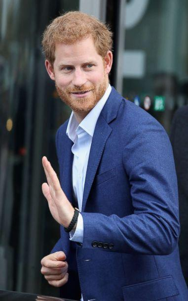 PHOTO: Prince Harry departs from Orestad school following a conference, Oct. 26, 2017, in Copenhagen, Denmark. (Chris Jackson/Getty Images)