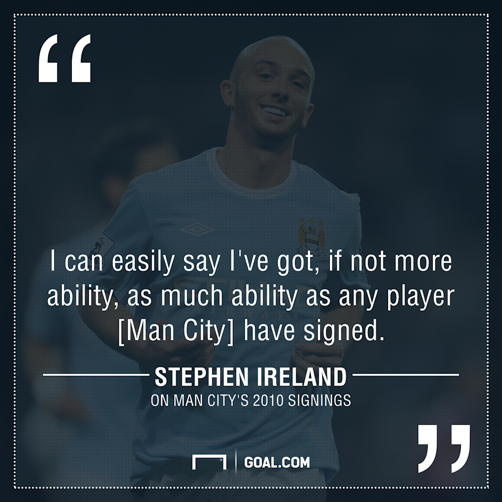 GFX Stephen Ireland on Man City signings