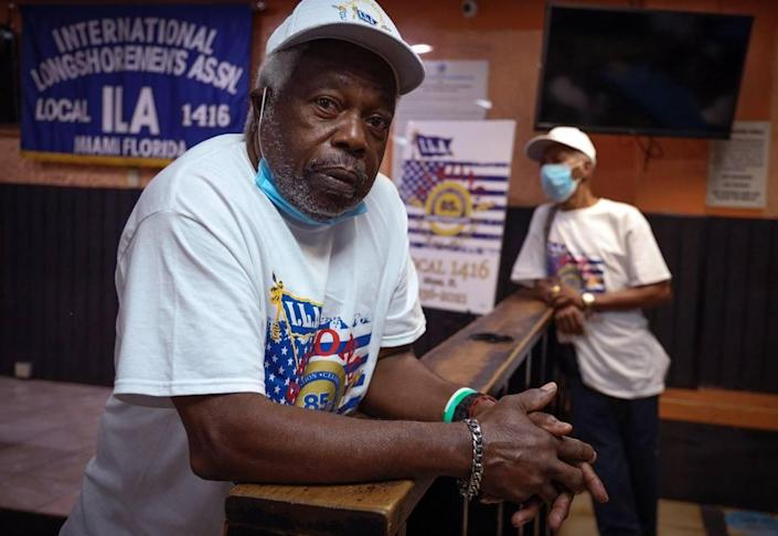 For nearly sixty years David Levarity, 77, has been a member of Longshoremen Local 1416. The retired union member gathered along with past and present members in celebration of the 85th anniversary of the International Longshoreman's Association Local 1416 in Miami's historic Overtown on Tuesday, August 3, 2021.