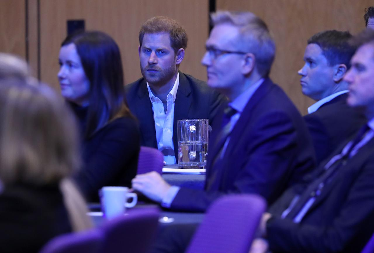 EDINBURGH, SCOTLAND - FEBRUARY 26: Prince Harry, Duke of Sussex attends a sustainable tourism summit at the Edinburgh International Conference Centre on February 26, 2020 in Edinburgh, Scotland. (Photo by WPA Pool/Getty Images)