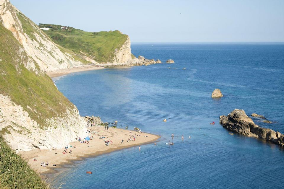 <p>A visit here will make you forget you're in England. With soft sand and fine pebbles, this sheltered beach provides safe bathing in shallow water. Now we just need the weather to warm up...</p>
