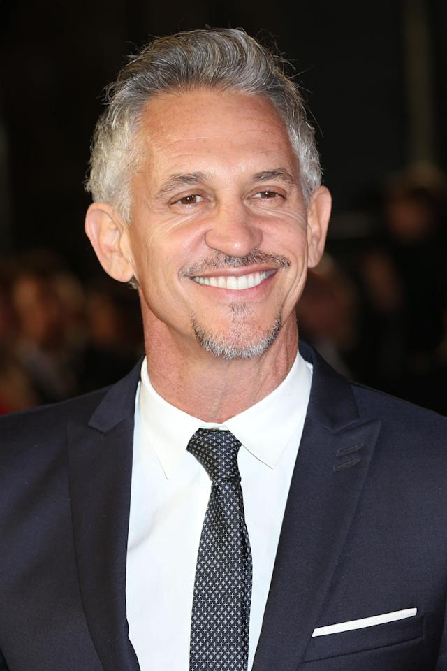 Gary Lineker poses for photographers on arrival for the World Premiere of the latest Bond film, Spectre, at the Royal Albert Halll in central London, Monday, Oct. 26, 2015. (Photo by Joel Ryan/Invision/AP)