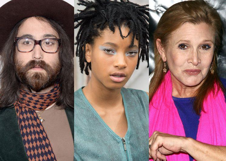 Sean Lennon, Willow Smith, and Carrie Fisher are making beautiful music together. (Photo: Getty Images)