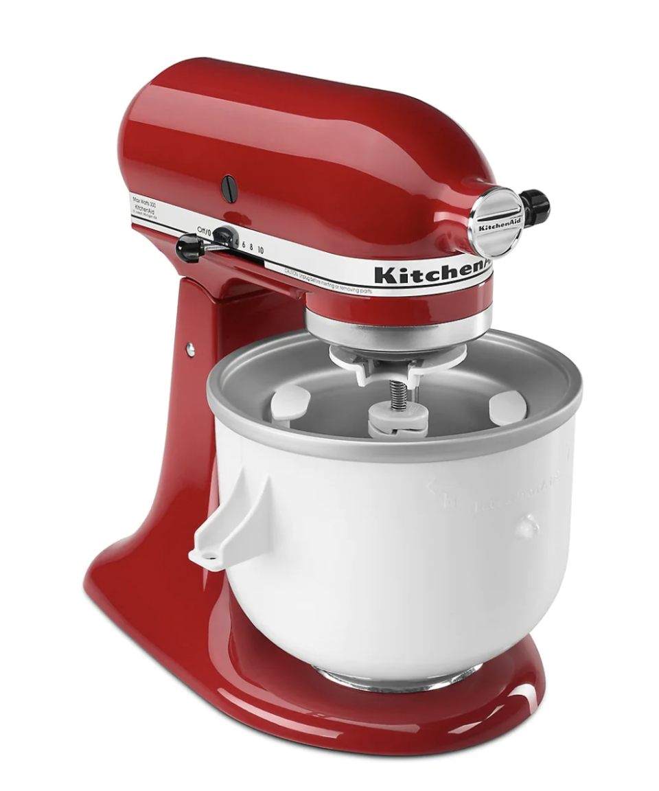KitchenAid Ice Cream Mixer Attachment on sale for Black Friday, $100 (originally $150).