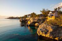 "Many people use Jamaica as their entry into the Caribbean, whether its for a <a href=""https://www.cntraveler.com/story/how-to-eat-your-way-around-jamaica?mbid=synd_yahoo_rss"" rel=""nofollow noopener"" target=""_blank"" data-ylk=""slk:food crawl"" class=""link rapid-noclick-resp"">food crawl</a> or an exclusive trip to <a href=""https://www.cntraveler.com/hotels/jamaica/oracabessa/goldeneye?mbid=synd_yahoo_rss"" rel=""nofollow noopener"" target=""_blank"" data-ylk=""slk:GoldenEye"" class=""link rapid-noclick-resp"">GoldenEye</a> (one of our favorite small resorts in the world). Even though we might go for different reasons, we all stay for the island's unreal natural beauty. Head to the western town of Negril for some of the best diving and swimming spots in the country (<a href=""https://www.cntraveler.com/galleries/2014-01-08/most-beautiful-caribbean-beaches?mbid=synd_yahoo_rss"" rel=""nofollow noopener"" target=""_blank"" data-ylk=""slk:Seven Mile Beach"" class=""link rapid-noclick-resp"">Seven Mile Beach</a> is a particular favorite), then head inland to hike through misty mountains, with guaranteed views of hidden lagoons and waterfalls."